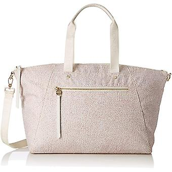 Borbonese With T Women's Beige Hand Bag (Coco) 40x28x13 cm (W x H x L)