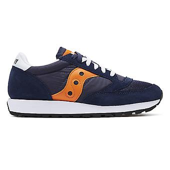 Saucony Jazz Original Vintage Mens Navy / Orange Trainers