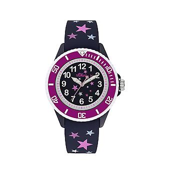 s.Oliver Watch Silicone Ribbon Watch Kids Girl SO-3926-PQ