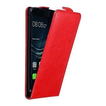 Cadorabo Hülle für Huawei P9 Case Cover - Handyhülle im Flip Design mit Magnetverschluss - Case Cover Schutzhülle Etui Tasche Book Klapp Style