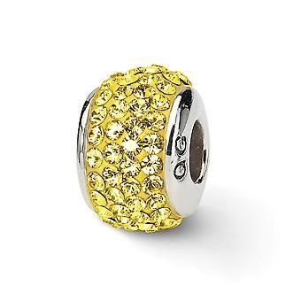 925 plata esterlina pulido reflexiones oro cristal completo perla encanto colgante collar regalos de joyería para las mujeres