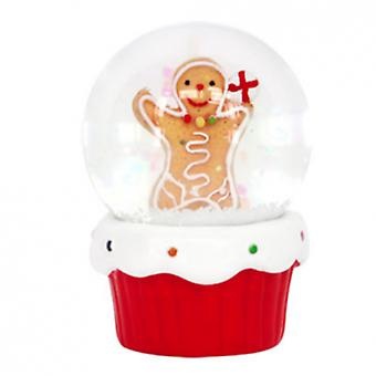 Gisela Graham Gingerbread Man Mini Snowglobe