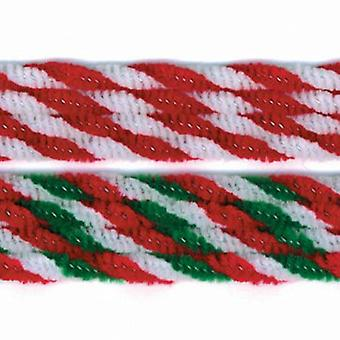 40 Christmas Candy Cane Twist Assorted 6mm Pipe Cleaners | Chenille Stems