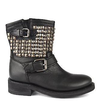 Ash Footwear Tennesse Black Leather Studded Boot