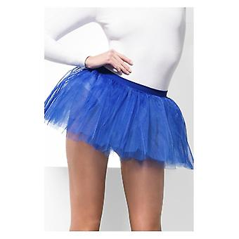Womens blauw Tutu onderjurk Fancy Dress accessoire