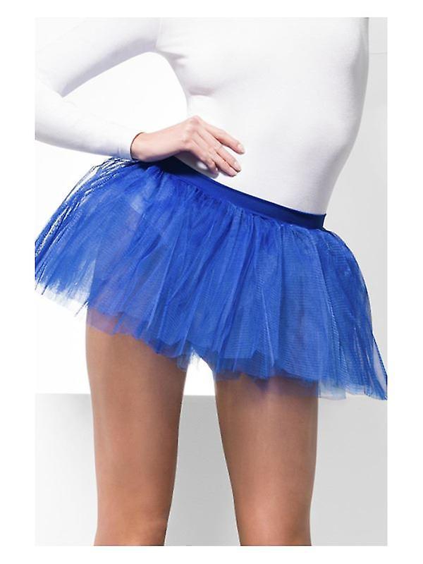 Womens Blue Tutu sottogonna costume accessorio