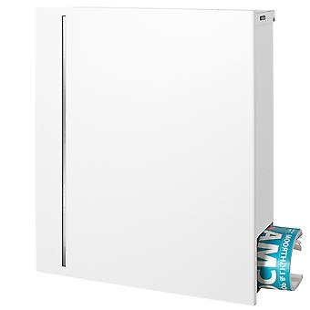 MOCAVI box 144R purist letterbox with concealed newspaper trade signal white (RAL 9003) with stainless steel design