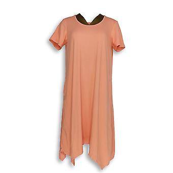 Cuddl Duds Women's Petite Gowns LP Flexwear Short Sleeve Pink A302370