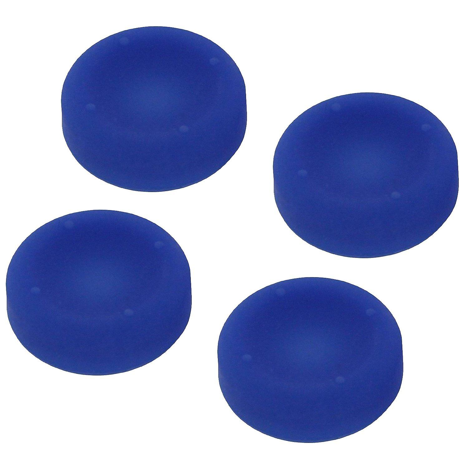 Concave soft silicone thumb grips for sony ps4 controller analog sticks - 4 pack blue