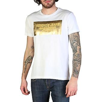 Versace jeans-klær-T-skjorter-B3GTB74D_36590_003-menn-hvit, gull-XXL