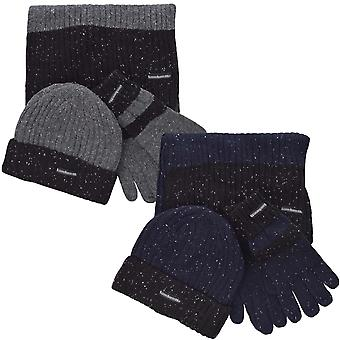 Lambretta Mens Knitted Hat Scarf Gloves 3 Piece Gift Box Set  - One Size