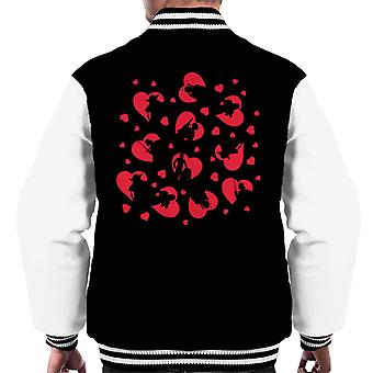 Star Wars Red Hearts Character Silhouette Men's Varsity Jacket
