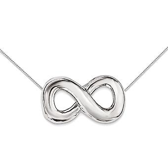 Sterling Silver Infinity Charm Pendant Necklace with chain