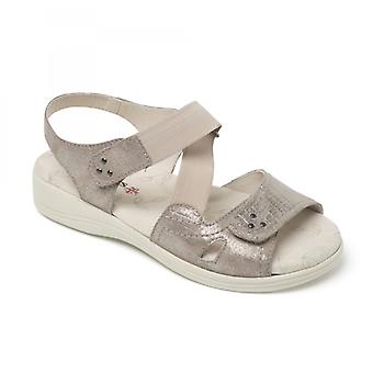 Padders Cruise Ladies Extra Wide (3e/4e) Sandals Metallic Reptile