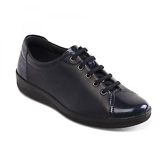 Padders Galaxy 2 Ladies Leather Wide (e Fit) Shoes Navy
