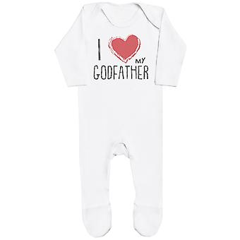 I Love My GodFather Red Heart Baby Romper