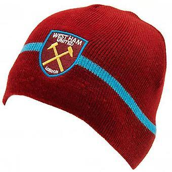 West Ham United bonnet tricoté