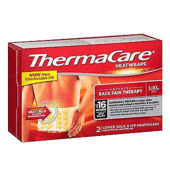 Thermacare heatwraps, lower back & hip, l-xl, 2 ea