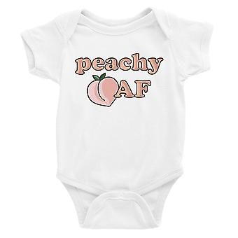 365 Printing Peachy AF Baby Bodysuit Gift White Funny Baby Jumpsuit Baby Shower
