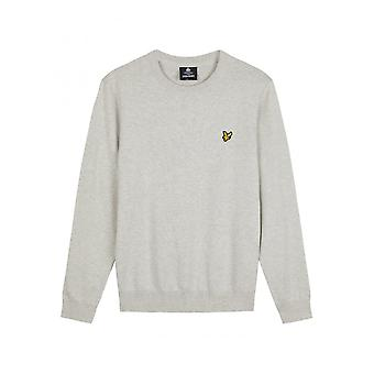 Lyle & Scott Cotton Crew Neck Jumper Light Grey Marl
