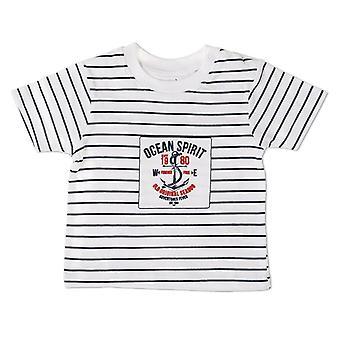 Babybol Jongens Witte Tshirt Ocean