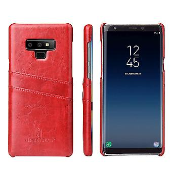 For Samsung Galaxy Note 9 Case Deluxe Wallet Leather Cover 2 Card Slots,Red