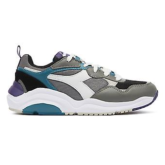 Diadora Whizz Run Mens Grey / Blue Trainers
