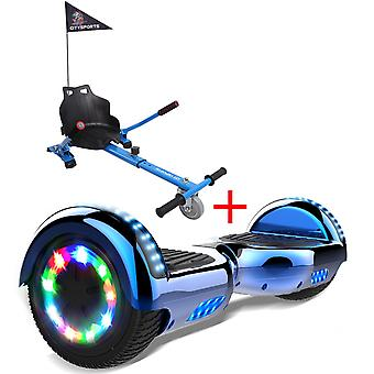 Right Choice Hoverboard-LED Wheels-Bluetooth Lautsprecher mit einstellbarem Hoverkart