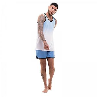 D Rock Mens D Rock Shorts And Vest Set Co-ords Summer Holiday Beach Swim Sleeveless Top