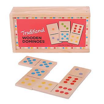 Bigjigs Toys traditionellen hölzernen Dominosteine