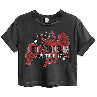 Amplificat Led Zeppelin Icarus Tour 77 Femei trunchiate T-Shirt