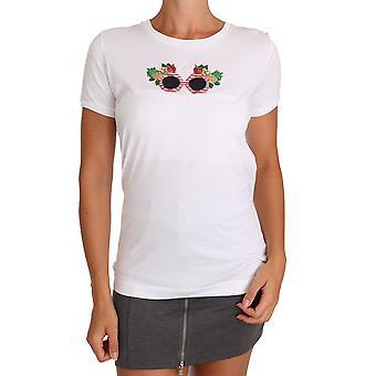 Dolce & Gabbana Hvid Bomuld #dgfamily T-shirt top