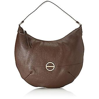 Borbonese Hobo Medium Brown Women's Shoulder Bag (Chocolate) 33x33x10 cm (W x H x L)