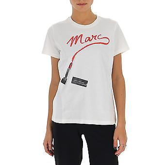 Marc Jacobs C6000034101 Dames's White Cotton T-shirt