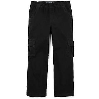 The Children's Place Big Boys' Husky Pull-On Cargo Pant,, Black, Size 14 Husky