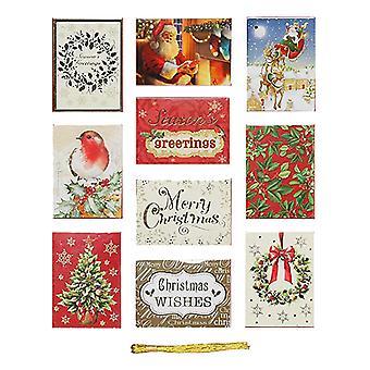 Etiquetas de regalo frustrado de la tienda de Navidad (Pack 50) (paquete de 2)