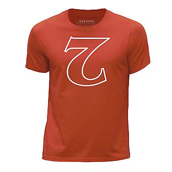 STUFF4 Boy's Round Neck T-Shirt/Strange Things / Upside Down 2/Orange