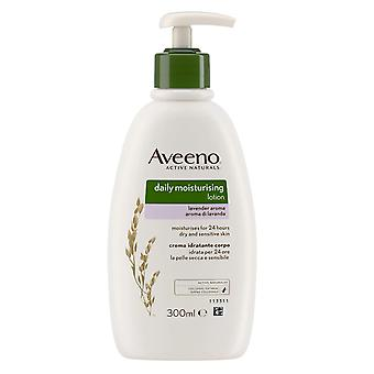 Johnson and Johnson Aveeno Daily Moistursing Body Lotion 300ml Lavender Aroma Normal/Dry Skin