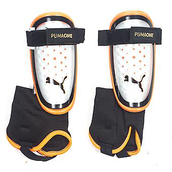 Puma One 3 + Ankel fotboll Shinguard Shin Pad Orange / Svart uppror