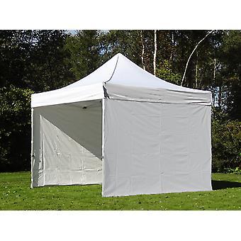 Vouwtent/Easy up tent FleXtents Steel 4x4m Wit, inkl. 4 Zijwanden
