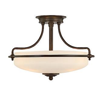 Griffin Semi-flush Light Palladian Bronze