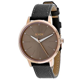 Nixon Frauen's Kensington Leder grau Uhr - A108-2214