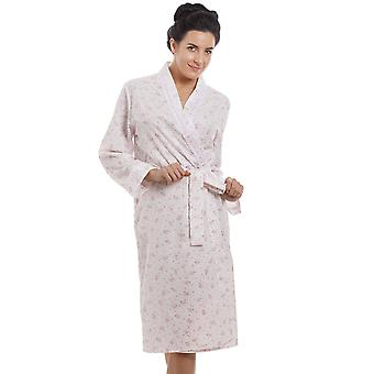 Camille Pink Floral Print Lightweight Dressing Gown