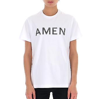 Amen Amw19224001 Donna's T-shirt in cotone bianco