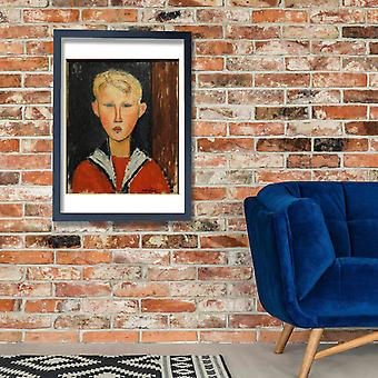 Amedeo Modigliani - The Blue eyed Boy Poster Print Giclee