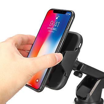 10W qi caricabatterie wireless intelligente infrarossi a induzione automatica blocco aria presa in aria cruscotto cruscotto portapenne per smartphone da 4,7-6,5 pollici