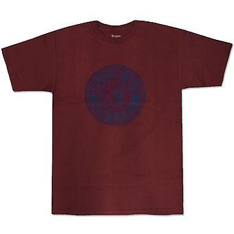 Brixton kilpailija t-paita viininpunainen Navy