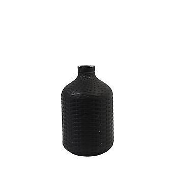 Light & Living Vase Deco 15.5x26.5cm Wick Ceramics Matt Black