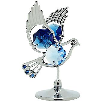 New Dove Crystal Gift Set COLLECTABLE Ornament CRYSTOCRAFT made with Swarovski Crystals