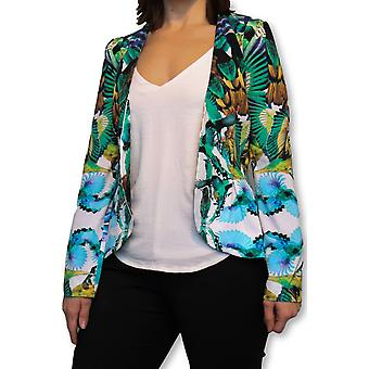 Birds of paradise floral blazer